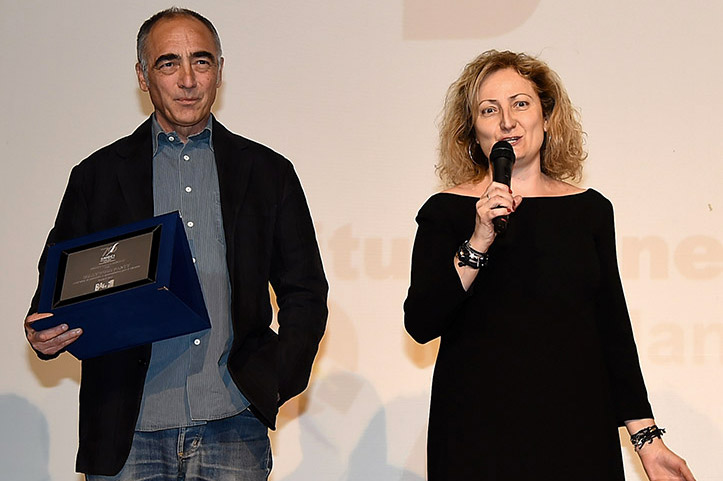 Francesca  Levi e Alessandro Boschi Premio Lello Bersani a Hollywood Party-Radio RAI 3